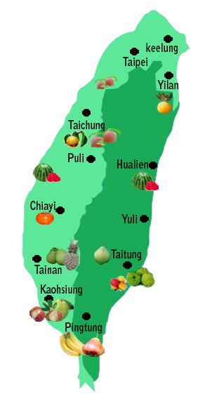 小xoo台湾图_台湾水果分布图